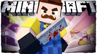 Школьник узнал мою тайну  в подвале. (Привет сосед в майнкрафте) (Minecraft сериал) #1