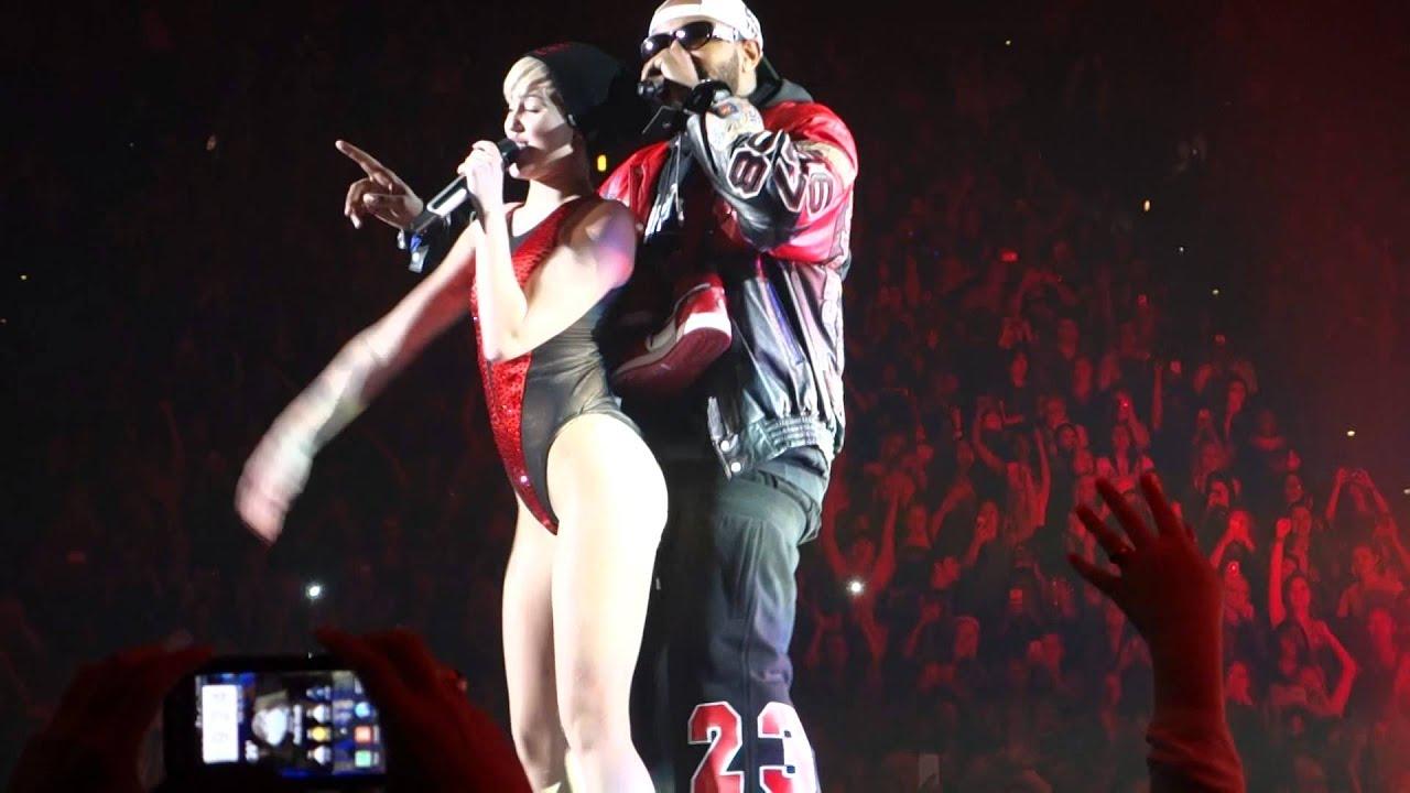 Bangerz Tour Atlanta Ga Miley Cyrus With Mike