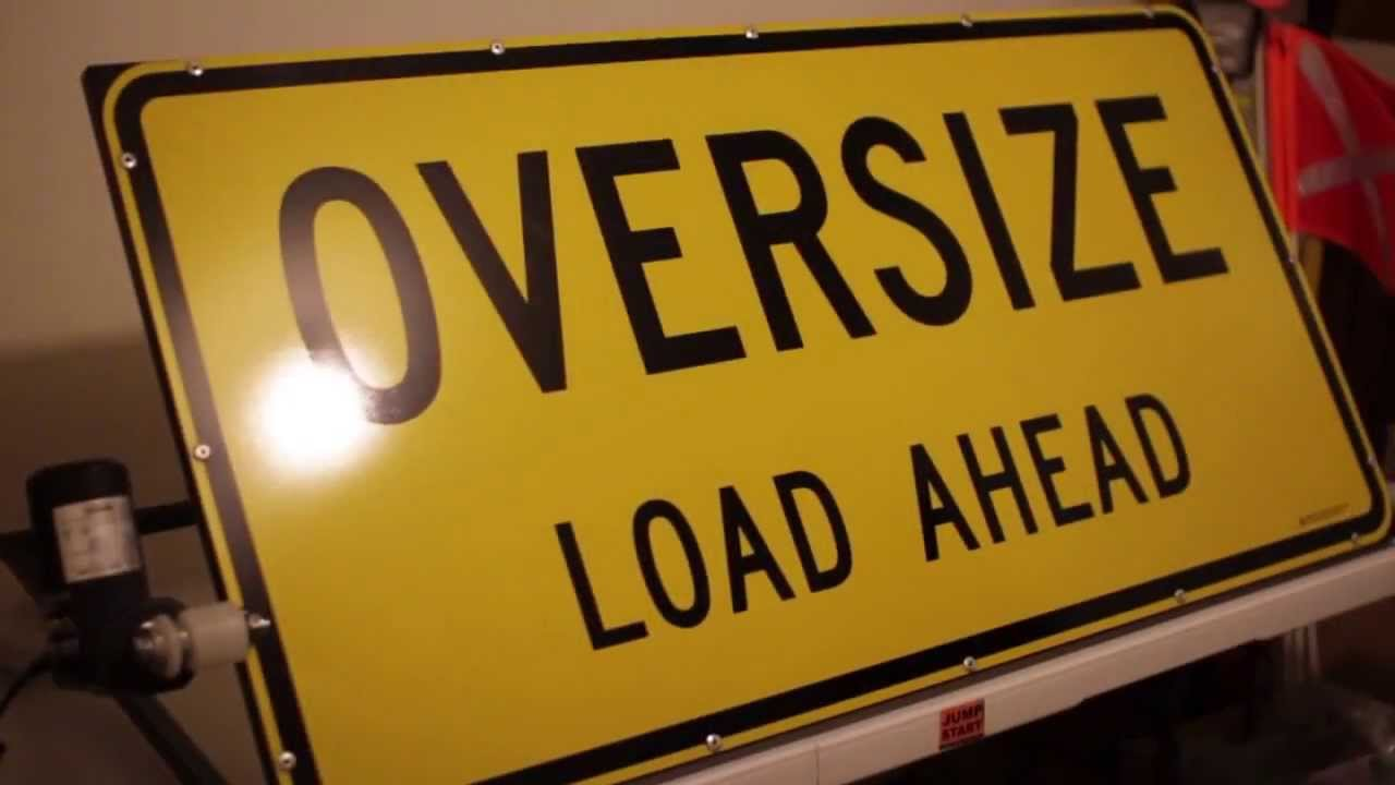 Oversize Load Signs >> Pilot Vehicle - Lay Flat (Electric Lift) Oversize Load Ahead Sign System - YouTube