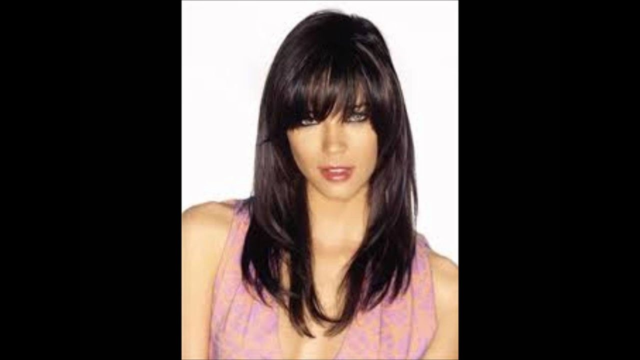 front bang hairstyle! - youtube