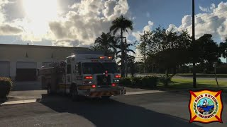 Boca Raton Fire Rescue Truck 5 Early Morning Response