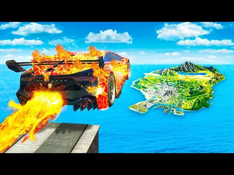 Jumping ELEMENTAL FIRE CARS Across ENTIRE MAP In GTA 5..