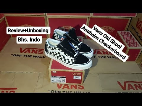 077d2810af Review+Unboxing Vans Old Skool Anaheim  Checkerboard  36DX - YouTube