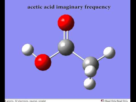 acetic acid imaginary frequency