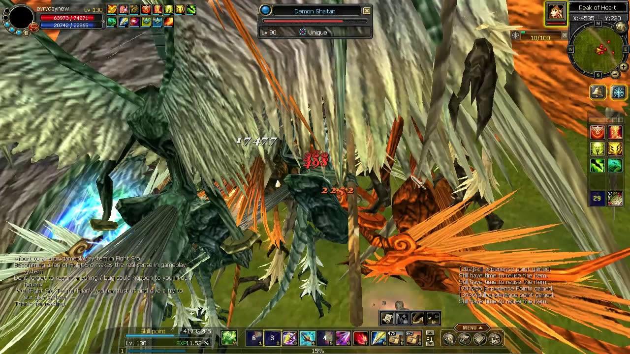 Silkroad Online Fighter SrO kills uonique Demon shaitan