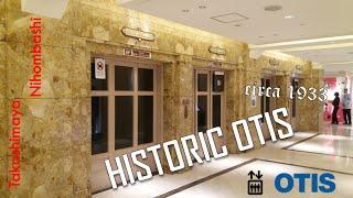 AMAZING 1933 OTIS Elevators at Takashimaya Nihombashi, Tokyo (HD Retake)