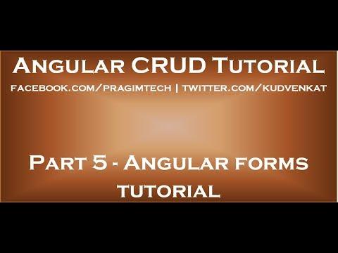 Angular Forms Tutorial