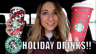 TRYING STARBUCKS HOLIDAY DRINKS 2019!