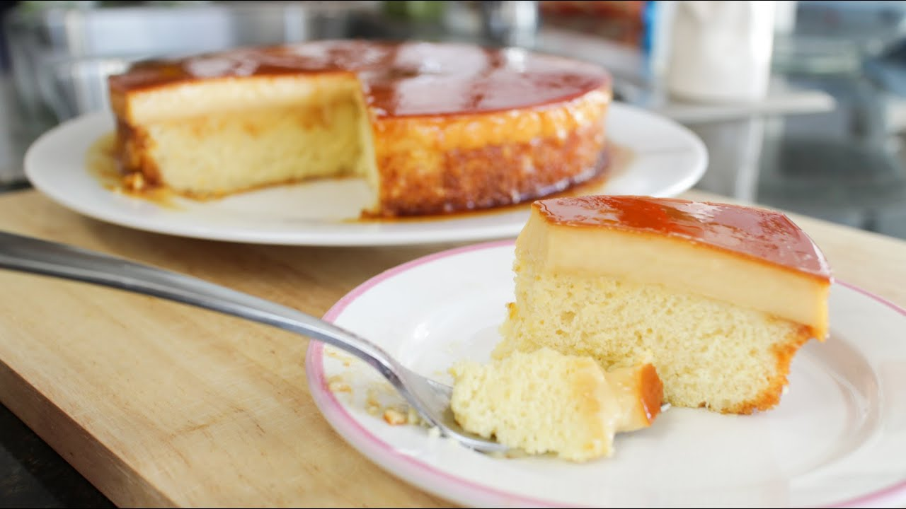 How To Make Cake With Custard Puding