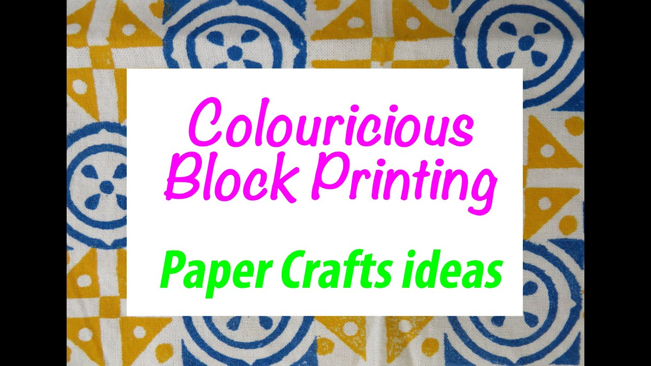 scrapbooking paper crafts block printing ideas youtube. Black Bedroom Furniture Sets. Home Design Ideas