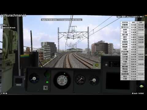 BVE 5 Announcer bahasa Indonesia, Tokyo Metro Tozai Line, tujuan Nakano seri 05 Chopper