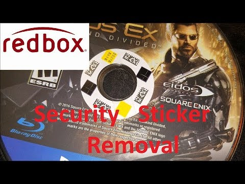 How To Remove Redbox Security Stickers