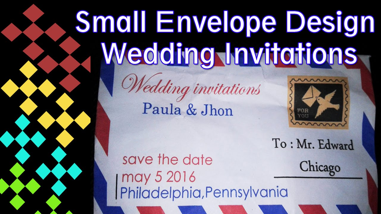 how to make a wedding invitation design small envelope with