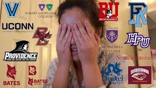 GETTING REJECTED FROM NEARLY ALL COLLEGES || College Decision Reactions