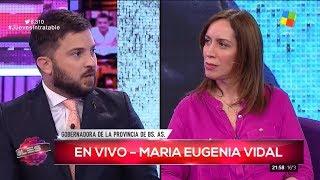 """M.E.Vidal le contesta a Brancatelli, en """"Intratables"""" con S.del Moro (completo HD) - 10/08/17"""