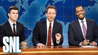Смотреть Weekend Update: Really!?! with Seth Meyers, Colin Jost and Michael Che - SNL онлайн