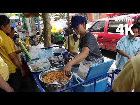 "Bangkok Street Food: Crispy Rice Salad (ยำแหนมข้าวทอด) - ""The Lady Selling, NO GOOD!"""