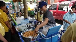 "Bangkok Street Food: Crispy Rice Salad (ยำแหนมข้าวทอด) - ""The Lady Selling, NO GOOD!"""