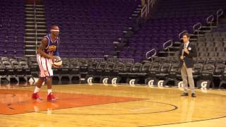 World Record Longest Basketball Shot Blindfolded! | Harlem Globetrotters