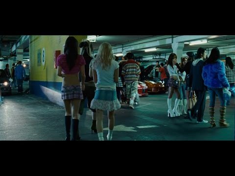 Fast and Furious: Tokyo Drift - Parking garage scene.