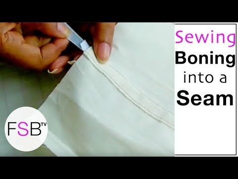 Sewing Boning Into a Seam