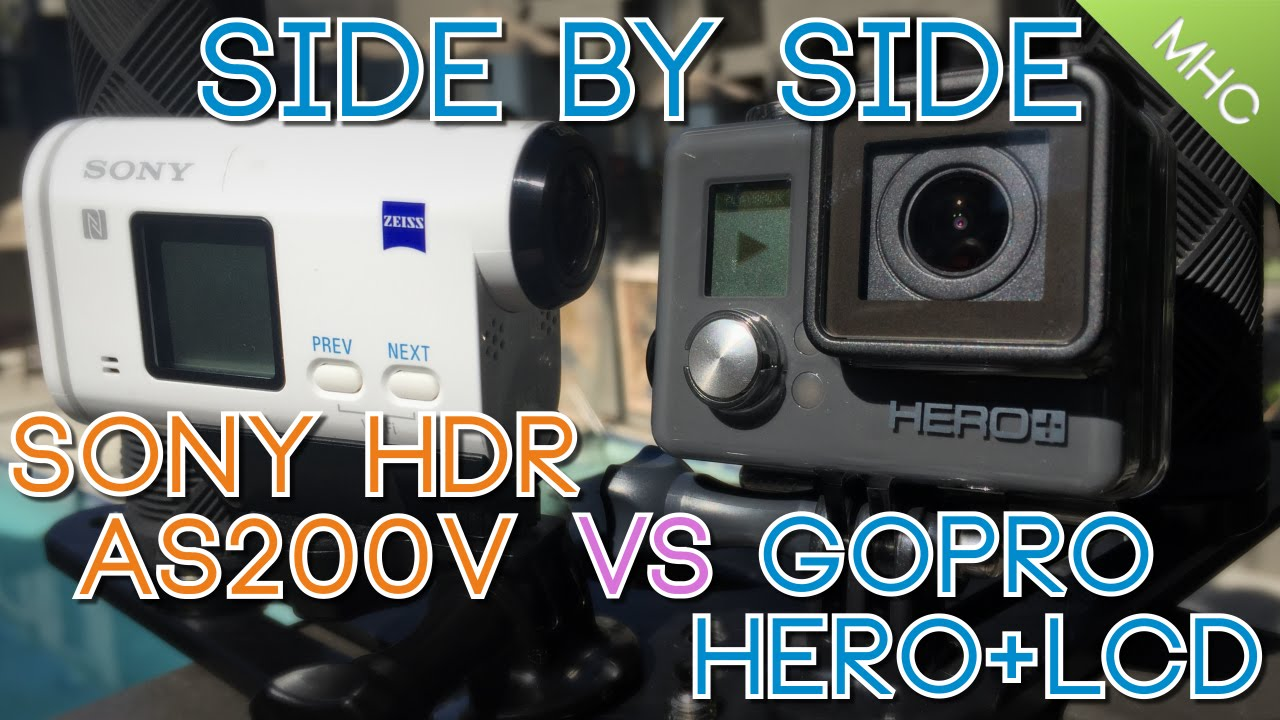 sony hdr as200v vs gopro hero lcd youtube. Black Bedroom Furniture Sets. Home Design Ideas