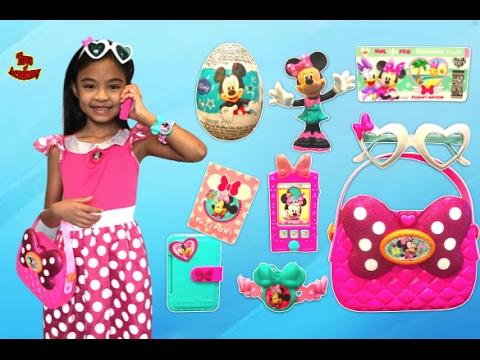 Minnie's Happy  Helper Bag Set Unboxing Surprise Eggs Toys | Toys Academy