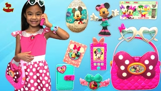 Minnie's Happy  Helper Bag Set Unboxing Surprise Eggs Toys | Toys Academy