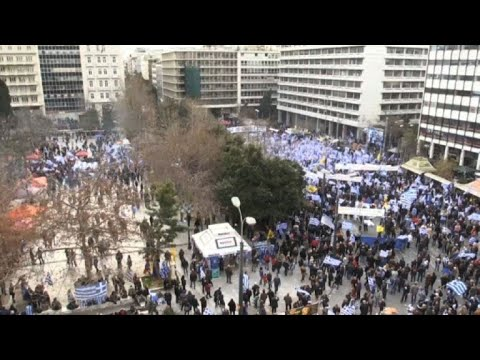 Protesters rally against Greece name change deal with Macedonia