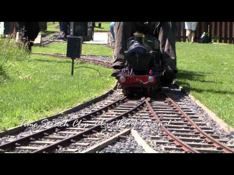 Slow motion video segment subject Model Steam Engine