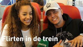 Jorden en Channah geven tips voor treinflirten (Ex on the Beach)