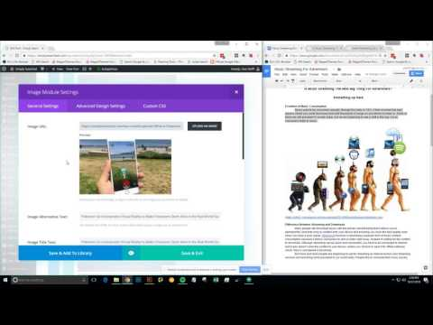 Creating a Blog Post in Simply Searched Dashboard for Divi