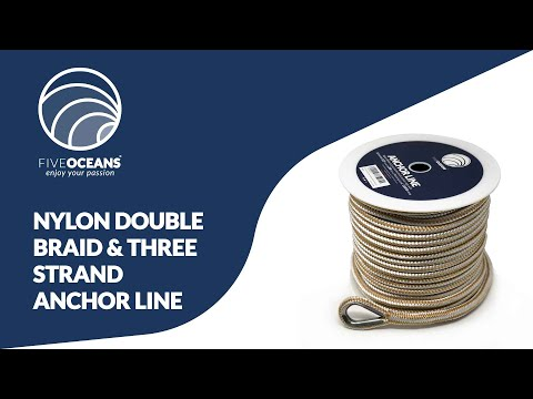Nylon Double Braid & Three-Strand Anchor Rope Line By Five Oceans