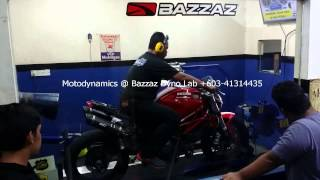 Ducati Monster 796 Bazzaz ZFI Dyno Tuning #1 - Motodynamics Technology Malaysia