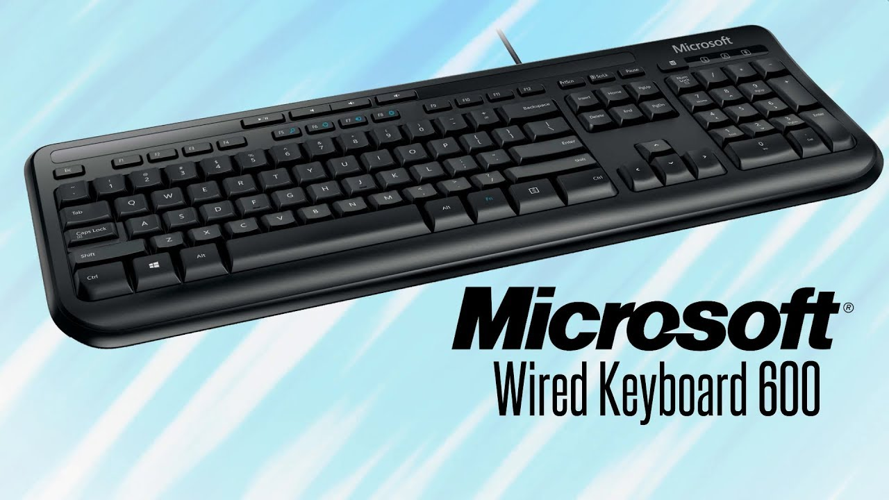 microsoft wired keyboard 600 review feature youtube. Black Bedroom Furniture Sets. Home Design Ideas