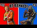 Ranking ALL 87 Epic Fortnite Skins! (Fortnite Battle Royale All Skins Ranked)