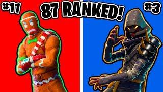 Ranking ALL 87 skins épico Fortnite! (Fortnite Battle Royale todas as peles classificadas)