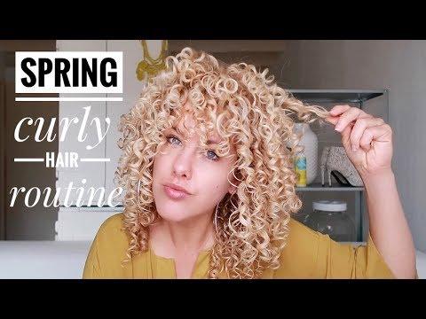 Spring CURLY HAIR routine @curlsandblondies