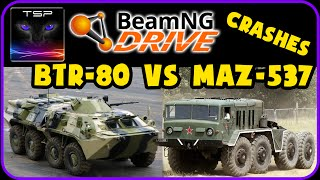 BeamNG - BTR 80 vs MAZ 537 - Crash Tests & Challenges
