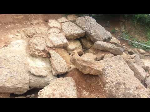 Bosnian Pyramid of the Sun (Piramida Sunca) obvious concrete blocks vid 1 (Visoko, Bosnia) 6-29-13
