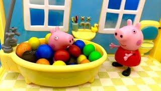 Świnka Peppa i fajowa kąpiel ☺ Bajka dla dzieci po Polsku ☺ Peppa Pig