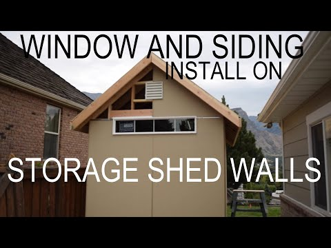 8x16 Shed Build: How To Install Siding, Windows and Vents