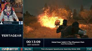 #ESAWinter18 Speedruns - Metal Gear Solid V: The Phantom Pain [Any% First Ending] by Metsametsa