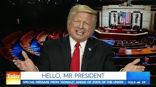 Donald Trump Impersonator John Di Domenico on the Today Show Australia SOTU 2 5 19 thumbnail