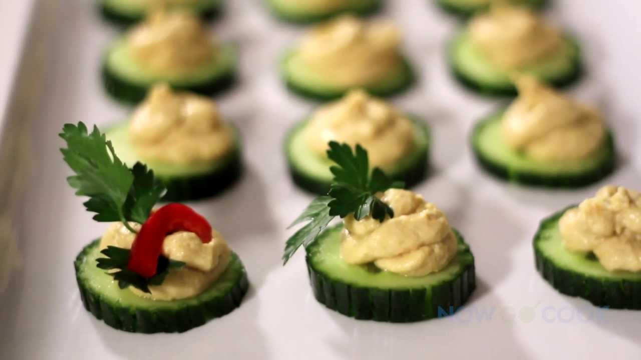 Cucumber Hummus A Fantastic Finger Food Youtube