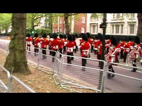 Guard of Honour march to State Opening of Parliament - May 2016
