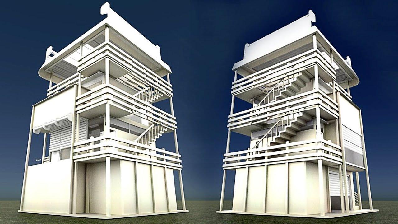 Tower House Design Blender Game Engine YouTube