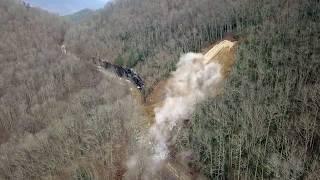 Highway 28 Rockslide Blasting