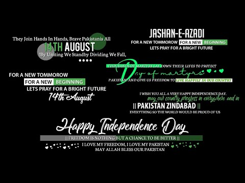How To Free Download 14 August Text Pngs Happy Independence Day Text Pngs Youtube