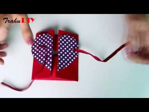 DIY envelope paper heart greeting card#bd😊